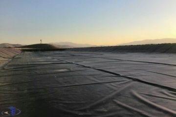 حوضچه تبخیر سایت پتروشیمی کردستان
